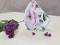 Rúška - Letné bavlnené rúško - biela záhrada - 11944987_
