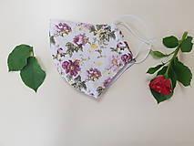Rúška - Letné bavlnené rúško - ruzova zahrada - 11945119_