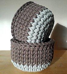 Košíky - Háčkované košíky - 11943983_