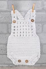 Detské oblečenie - Háčkované letné body na traky (Newborn) - 11943003_