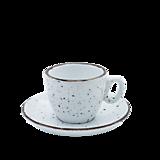 Nádoby - Šálka na espresso s podšálkou biela - 11939780_