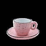 Nádoby - Šálka na espresso s podšálkou ružová - 11939815_