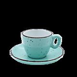 Nádoby - Šálka na espresso s podšálkou zelená - 11939836_