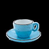 Nádoby - Šálka na espresso s podšálkou modrá - 11939852_