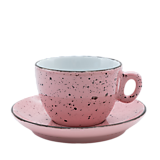 Nádoby - Šálka na cappuccino s podšálkou ružová - 11939877_