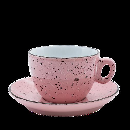 Šálka na cappuccino s podšálkou ružová
