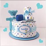 Detské doplnky - MINI tortička TYRKYS - 11942019_