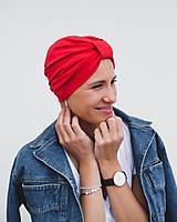 Čiapky - Turban Red Classic - 11942592_