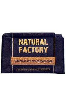 Drogéria - Prírodné mydlo - Aktívne uhlie a citrónová tráva - 11940423_