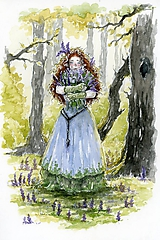 Obrazy - Vília náruč plná levandule Art Print - 11944254_