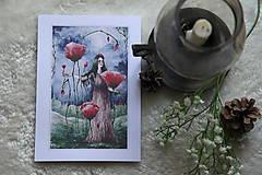 Obrazy - Maková kráľovná Art Print - 11944505_