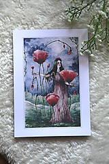 Obrazy - Maková kráľovná Art Print - 11944508_