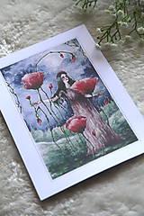 Obrazy - Maková kráľovná Art Print - 11944518_