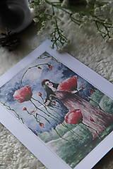 Obrazy - Maková kráľovná Art Print - 11944521_