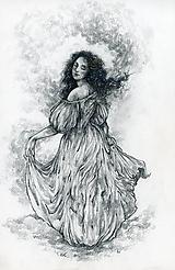 Kresby - Princezná tancujúca v hmlách Art Print - 11944809_