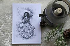 Kresby - Princezná tancujúca v hmlách Art Print - 11944811_