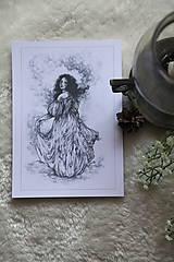 Kresby - Princezná tancujúca v hmlách Art Print - 11944812_