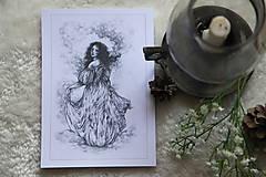 Kresby - Princezná tancujúca v hmlách Art Print - 11944813_