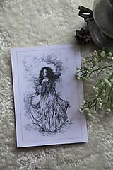 Kresby - Princezná tancujúca v hmlách Art Print - 11944814_