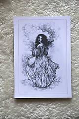 Kresby - Princezná tancujúca v hmlách Art Print - 11944816_