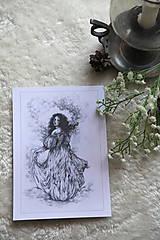 Kresby - Princezná tancujúca v hmlách Art Print - 11944817_