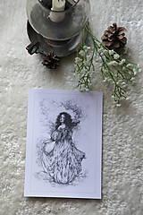 Kresby - Princezná tancujúca v hmlách Art Print - 11944819_