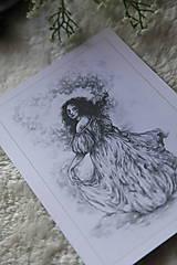 Kresby - Princezná tancujúca v hmlách Art Print - 11944821_