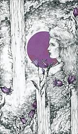 Kresby - Zvončeková víla Art Print - 11944925_