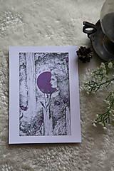 Kresby - Zvončeková víla Art Print - 11944926_