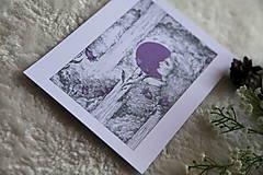 Kresby - Zvončeková víla Art Print - 11944928_