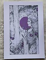 Kresby - Zvončeková víla Art Print - 11944932_