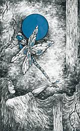 Kresby - Vážková víla Art Print - 11944988_