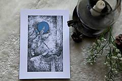 Kresby - Vážková víla Art Print - 11945020_
