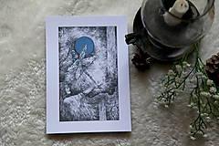 Kresby - Vážková víla Art Print - 11945021_