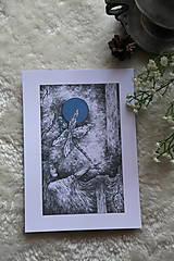 Kresby - Vážková víla Art Print - 11945022_