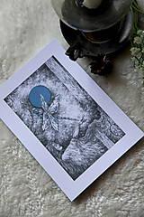 Kresby - Vážková víla Art Print - 11945024_