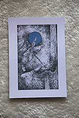 Kresby - Vážková víla Art Print - 11945027_