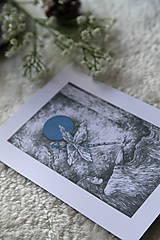 Kresby - Vážková víla Art Print - 11945031_