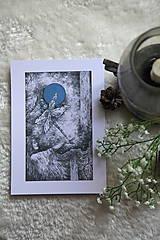 Kresby - Vážková víla Art Print - 11945032_
