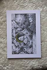 Kresby - Víla na krídlach nočných motýľov Art Print - 11945088_