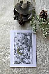 Kresby - Víla na krídlach nočných motýľov Art Print - 11945092_