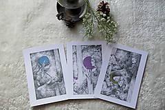 Kresby - Víla na krídlach nočných motýľov Art Print - 11945095_