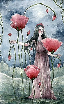 Obrazy - Maková kráľovná Art Print - 11944490_