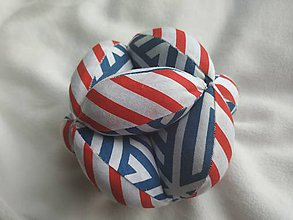 Hračky - montessori loptička AMELIA,puzzle lopta,úchopová lopta,amish lopta,kopacia lopta,mäkká lopta,oeko-tex hračka - 11940703_