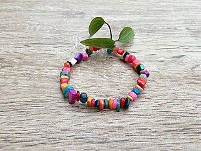 Náramky - veselý náramok z perlete - 11943451_
