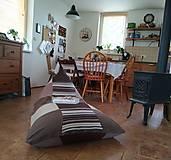 Úžitkový textil - Hnedý sedací vak  - 11942194_