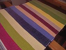 Úžitkový textil - Tkaný pestrofarebný koberec bez bielej - 11940861_