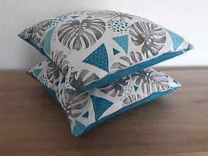 Úžitkový textil - Retro sada  (Obliečky 40×40cm tyrkys) - 11947361_