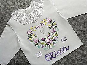 Detské oblečenie - Fialová pivóniová na krst - 11947953_