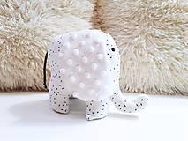 Hračky - Mäkučký sloník čierne čiarky na bielom - 11946108_
